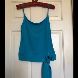 Turquoise Silk Blend Top, by Banana Republic